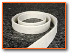 Heat Resistant Tape - high temperature white rubber impregnated tacky cloth gasket tape