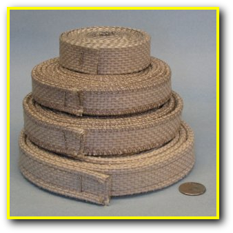 Heat Resistant Silica InSilMaxTape - Slit & Folded Stitched Tape
